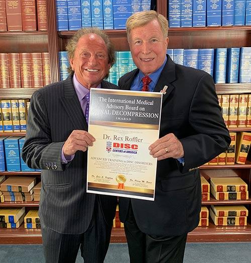 Dr. Rex W. Roffler Receiving Award